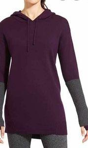 Athleta Purple gray hooded Sweater long tunic